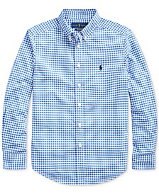 Big Boys Performance Poplin Shirt
