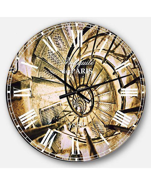Designart Vintage Oversized Metal Wall Clock