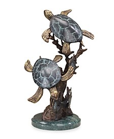 Home Sea Turtle Duet Sculpture