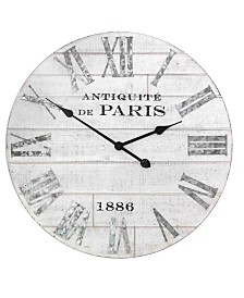 Stratton Home Decor Adrianna Wood Clock
