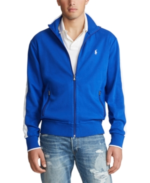 Polo Ralph Lauren Men's Soft Cotton Track Jacket In Rugby Royal