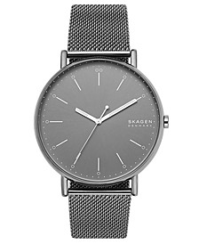 Men's Signatur Gray Stainless Steel Mesh Bracelet Watch 45mm