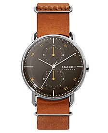 Men's Horizont Field Brown Leather Strap Watch 42mm