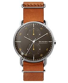 Skagen Men's Horizont Field Brown Leather Strap Watch 42mm