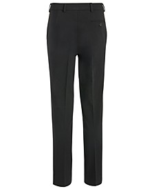 Big Boys Classic-Fit Stretch Black Twill Dress Pants