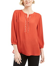Rivet Pleated-Back Blouse, Created for Macy's