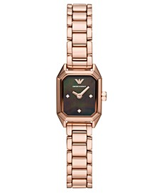 Women's Rose Gold-Tone Stainless Steel Bracelet Watch 17x19mm