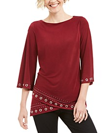 Grommet Crossover-Hem Top, Created for Macy's