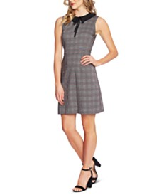 CeCe Plaid A-Line Dress