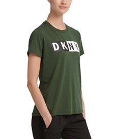 DKNY Sport Colorblocked-Logo T-Shirt