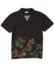 Men's Vacay Stretch Palm-Print Shirt