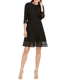 Jessica Howard Petite Illusion Dress & Jacket