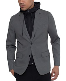 Kenneth Cole Men's Tech Blazer with Removable Full-Zip Hoodie