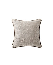 "Baylen 14"" X 14"" Embroidered Square Decorative Pillow"