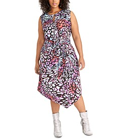 Trendy Plus Size Hani Printed Dress