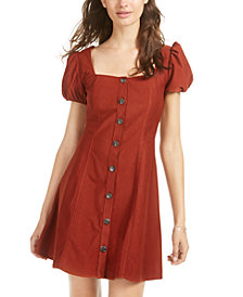 Sequin Hearts Juniors' Button-Front Dress