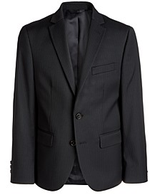 Big Boys Classic-Fit Stretch Black Stripe Suit Jacket