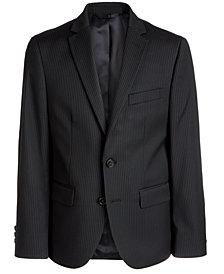 Lauren Ralph Lauren Big Boys Classic-Fit Stretch Black Stripe Suit Jacket