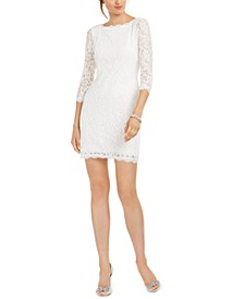 V-Back Lace Sheath Dress