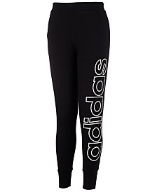 adidas Little Girls Linear Jogger Pants