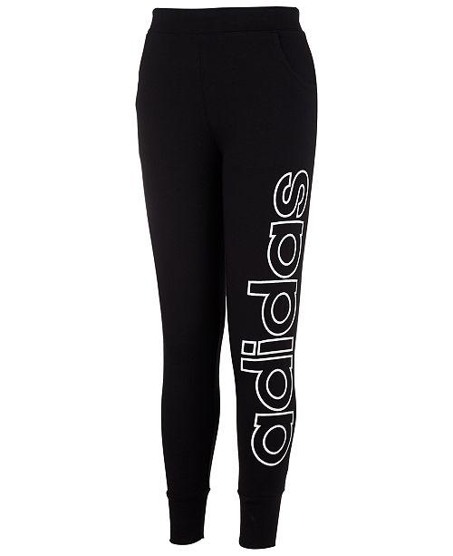 adidas Big Girls Linear Jogger Pants