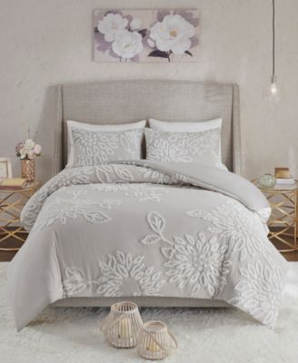 Veronica King/California King 3-Pc. Tufted Cotton Chenille Floral Comforter Set