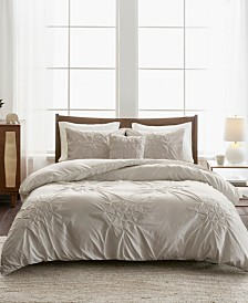 Madison Park Giselle King/California King 4-Pc. Tufted Seersucker Duvet Set