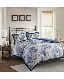 Madison Park Abigail Cotton Ruffle 3-Pc. Duvet Cover Sets