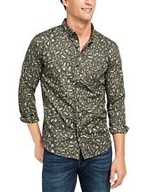 Men's Animal Print Button-Down Shirt