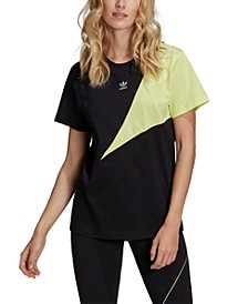 Women's Cotton Colorblocked Boyfriend T-Shirt
