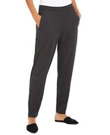 Eileen Fisher Slim Ankle Slouchy Pants, Regular & Petite