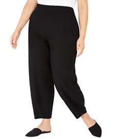 Eileen Fisher Plus Size Ankle-Length Lantern Pants