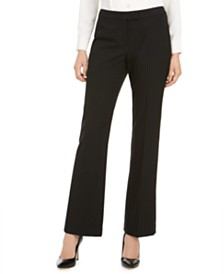 Anne Klein Pinstriped Flare-Leg Pants