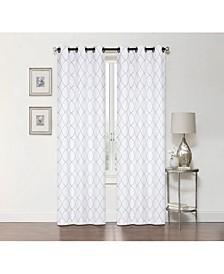"Lakewood Embroidery Blackout Grommet Curtain, 63"" x 50"""
