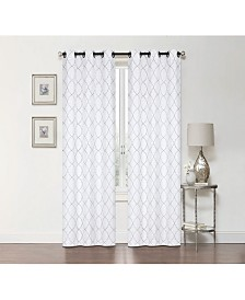 Regal Home Lakewood Embroidery Grommet Curtain