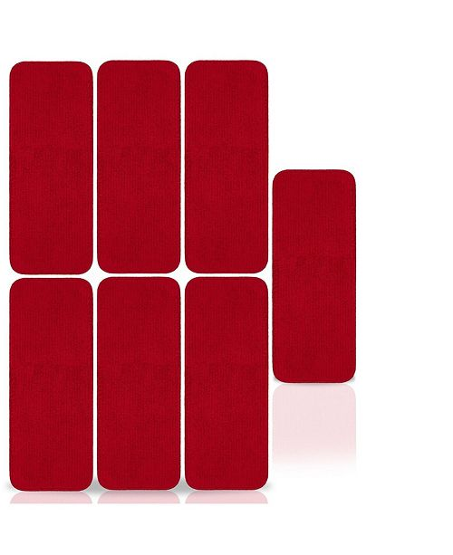 """Ottomanson Softy Collection Solid Skid Resistant Rubber Backing Set of 7, 9"""" x 26"""""""