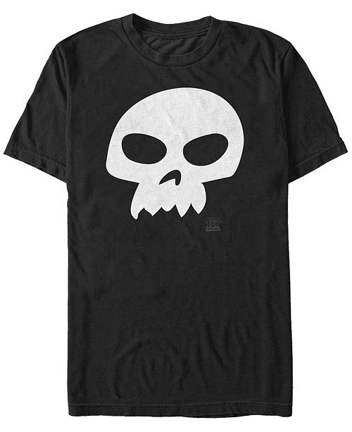 Toy Story Disney Pixar Men's Sid Skull Costume Short Sleeve T-Shirt