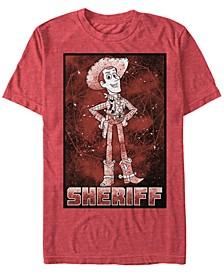 Disney Pixar Men's Up Sheriff Woody Galaxy Short Sleeve T-Shirt