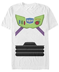 Disney Pixar Men's Toy Story Buzz Lightyear Suit Costume Short Sleeve T-Shirt