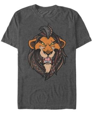 Geometric Patterned Scar Short Sleeve T-Shirt