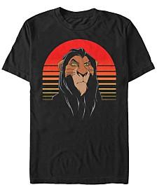 Disney Men's The Lion King Scar Sunset Portrait Short Sleeve T-Shirt