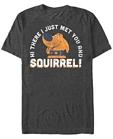 Disney Pixar Men's UP Dug Just Met and SQUIRREL Short Sleeve T-Shirt