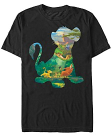 Disney Men's The Lion King Simba and Friends Silhouette Short Sleeve T-Shirt