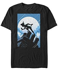 Disney Men's Peter Pan Curious Shadow Silhouette Short Sleeve T-Shirt