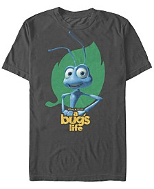 Disney Men's Pixar Bugs Life Flik Hips Logo Short Sleeve T-Shirt