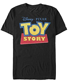 Disney Pixar Men's Official TOY STORY Movie Logo Short Sleeve T-Shirt