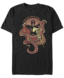 Disney Men's Live Action Jafar Dark Mysterious Short Sleeve T-Shirt