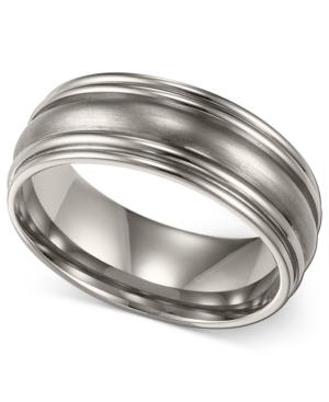 Men's Titanium Ring, Comfort Fit Wedding Band (7mm)