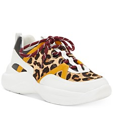 I.N.C. Gemella Animal-Print Sneakers, Created for Macy's