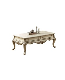 Coffee Table with Cabriole Legs and Broad Drawers
